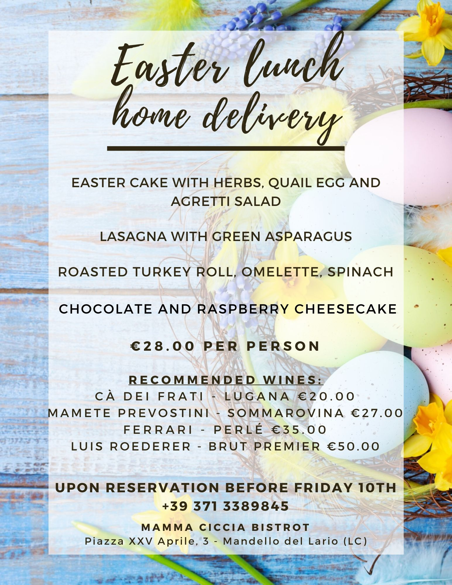 Easter lunch DELIVERY: Immagine 1